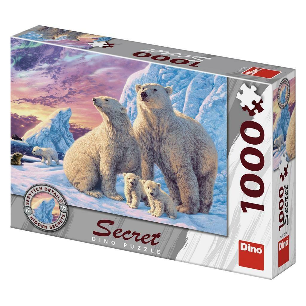 PUZZLE 1000 pcs - Ursos Polares - SECRET Colection - DINO