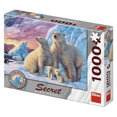 PUZZLE 1000 pcs - Ursos Polares - SECRET Colection - DINO