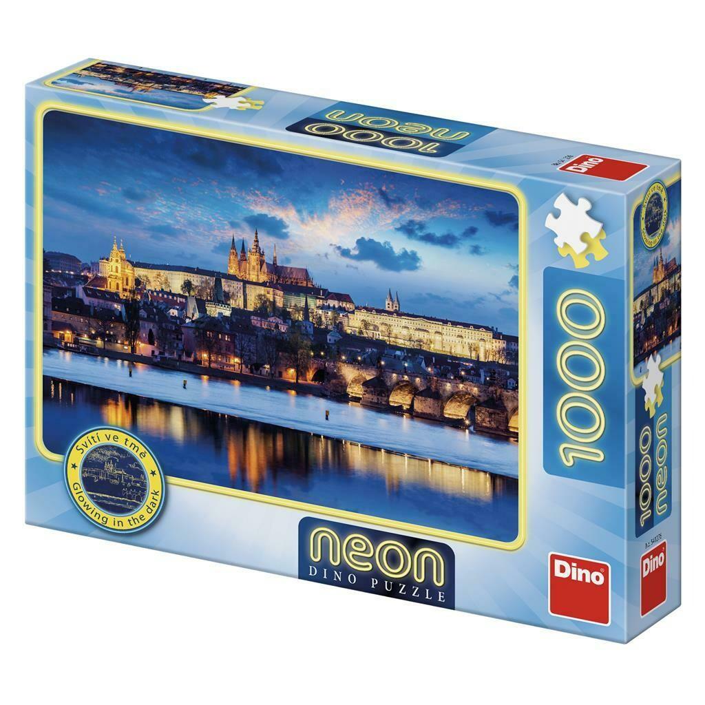 PUZZLE 1000 pcs - Castelo Praga - Neon - DINO