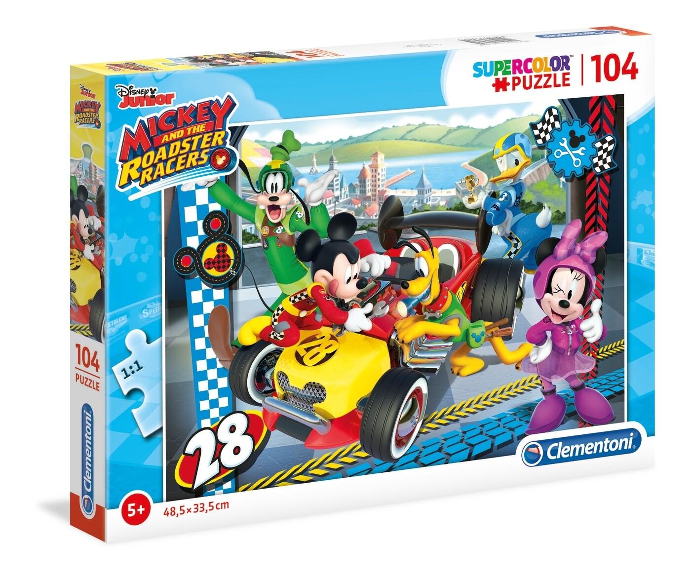 PUZZLE Super 104 pcs Mickey - Disney -- CLEMENTONI