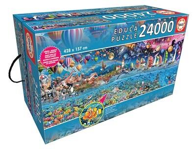 PUZZLE 24000 pcs A Vida, O Maior Puzzle - EDUCA
