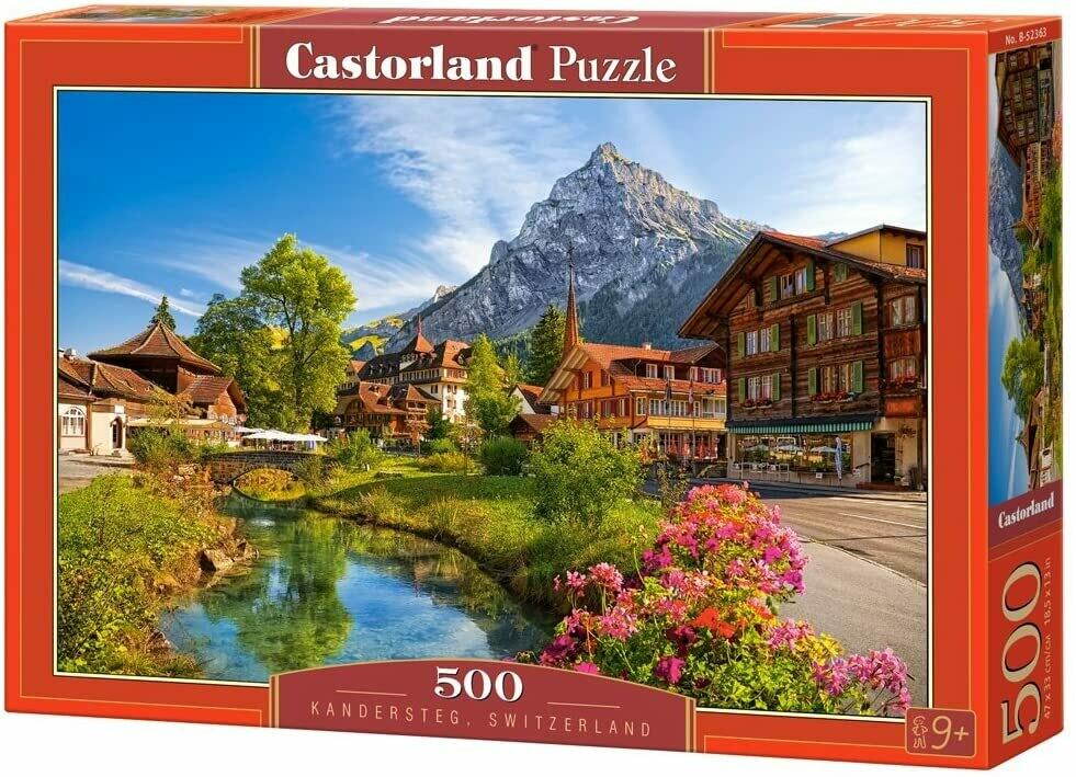 PUZZLE 500 pcs - Kandersteg, Suiça - CASTORLAND