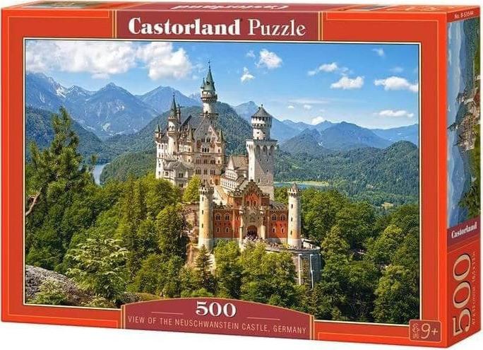PUZZLE 500 pcs - Vista do Neuschwanstein - CASTORLAND