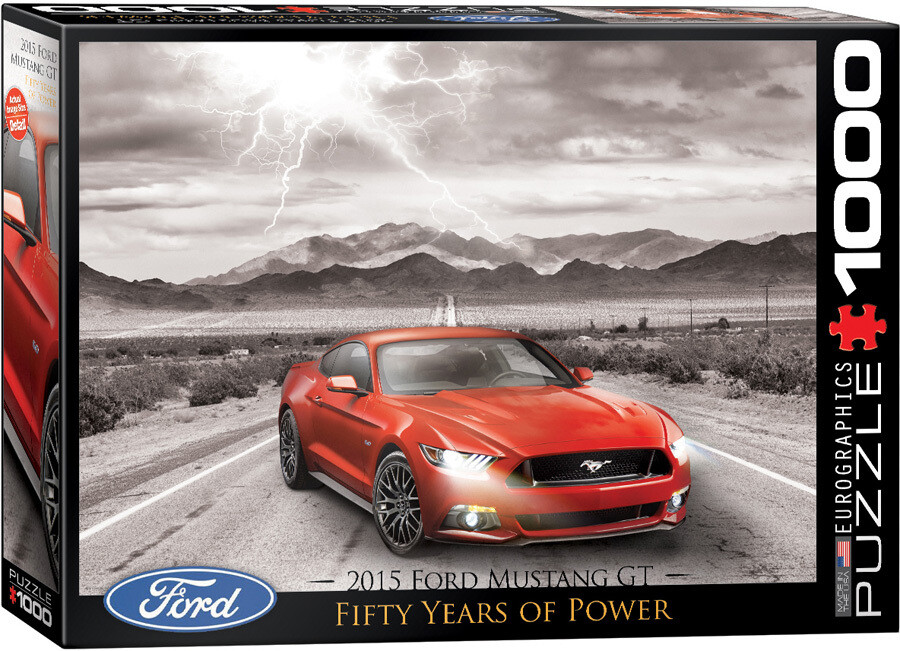 PUZZLE 1000 pcs Ford Mustang GT - 50 anos - Eurographics