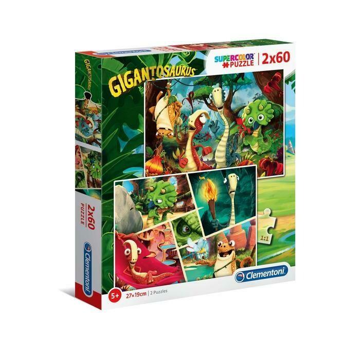 PUZZLE Super 2x60 pcs Gigantossaurus - Disney Junior - CLEMENTONI