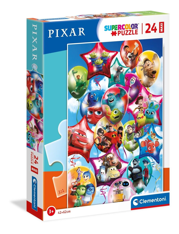 PUZZLE Supercolor MAXI - 24 pcs -Pixar Party - CLEMENTONI