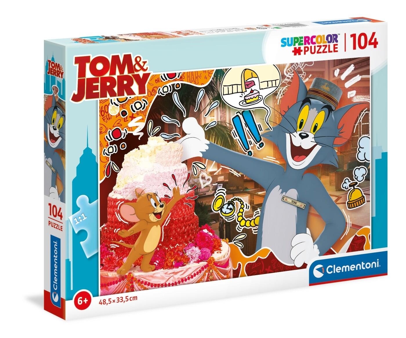 PUZZLE Super 104 pcs Tom & Jerry -- CLEMENTONI
