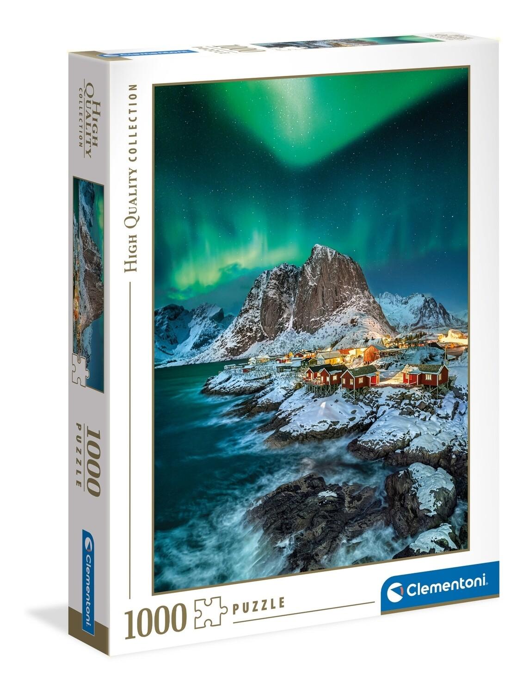 PUZZLE 1000 HQ Aurora Boreal Lofoten Islands- CLEMENTONI