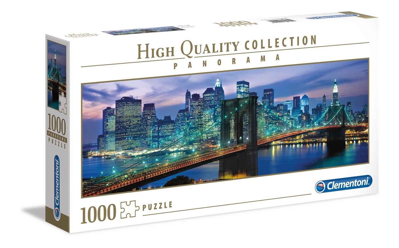 PUZZLE 1000 HQ Panorama - NYK Brooklin Bridge - CLEMENTONI