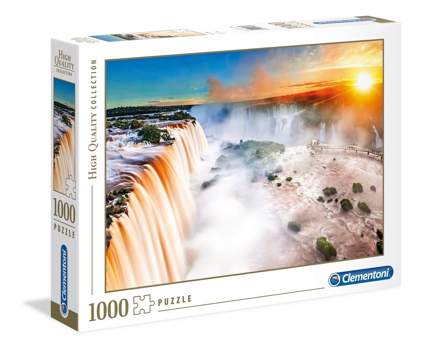 PUZZLE 1000 HQ Waterfall - CLEMENTONI