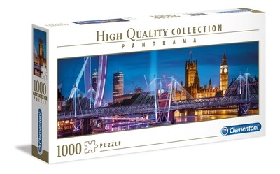 PUZZLE 1000 HQ Panorama - London- CLEMENTONI