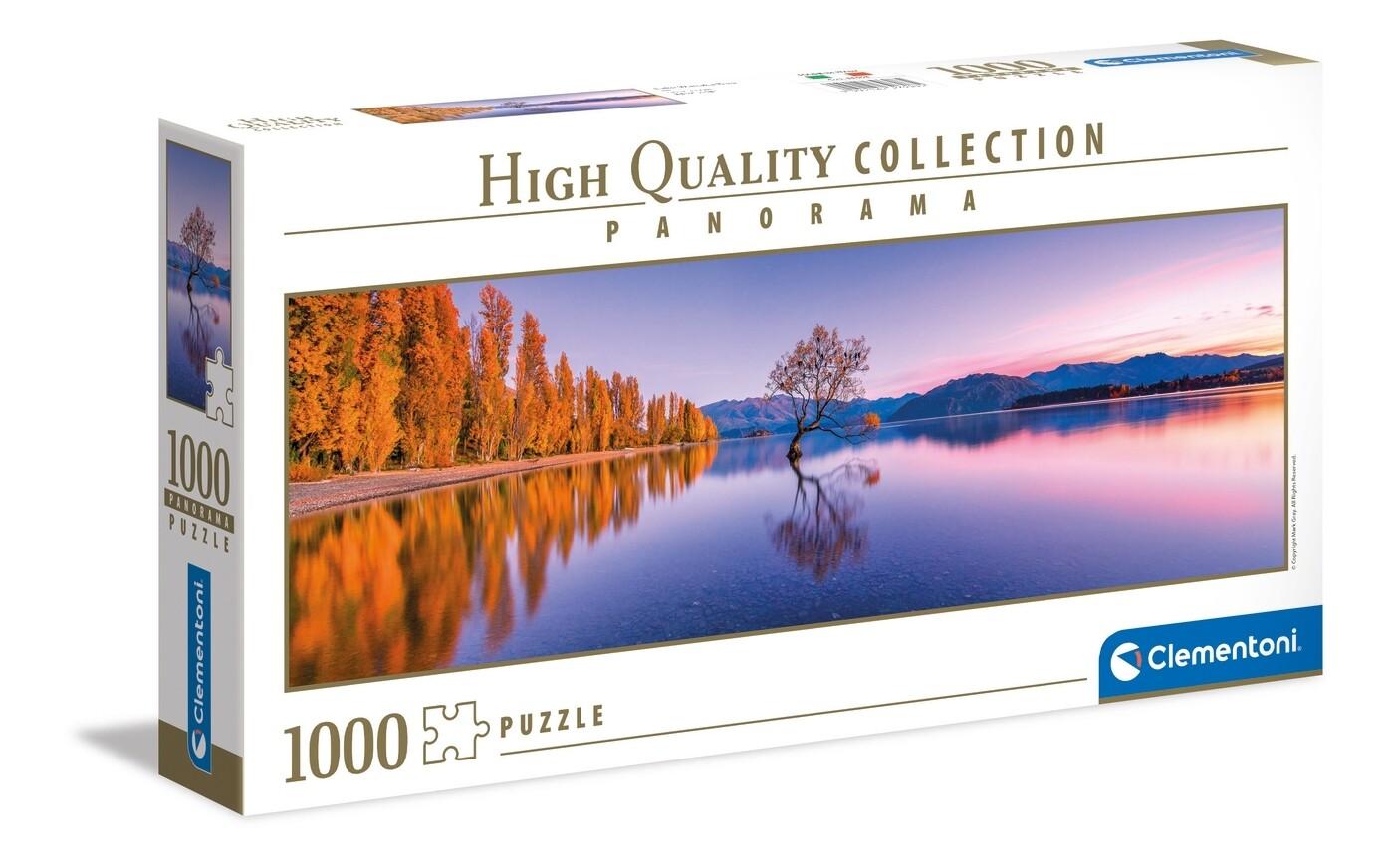 PUZZLE 1000 HQ Panorama - Lake - Wanaka Tree - CLEMENTONI