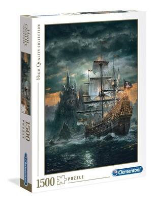 PUZZLE 1500 HQ Pirate Ship- CLEMENTONI