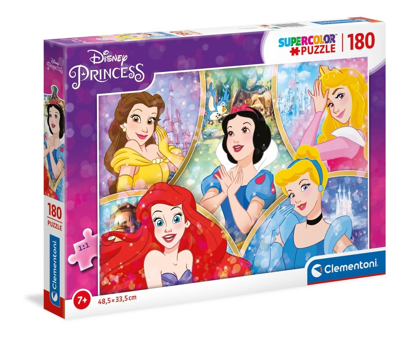 PUZZLE Super 180 pcs Princesas Disney - CLEMENTONI