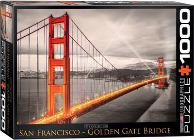PUZZLE 1000 pcs San Francisco Golden Gate Bridge - Eurographics