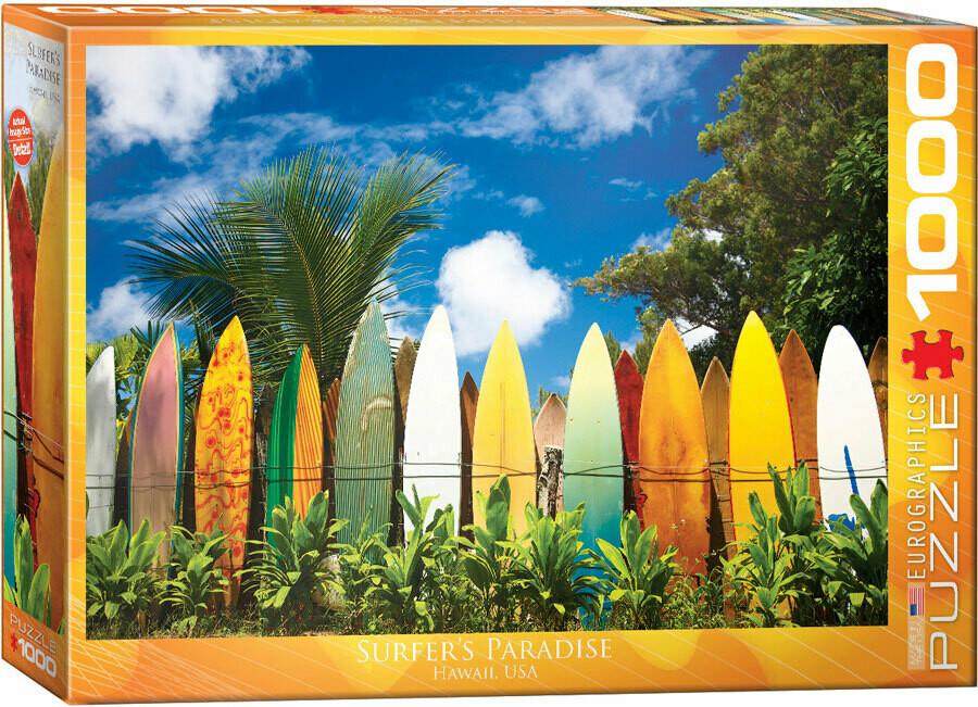 PUZZLE 1000 pcs Surfer's Paradise - Hawaii - Eurographics