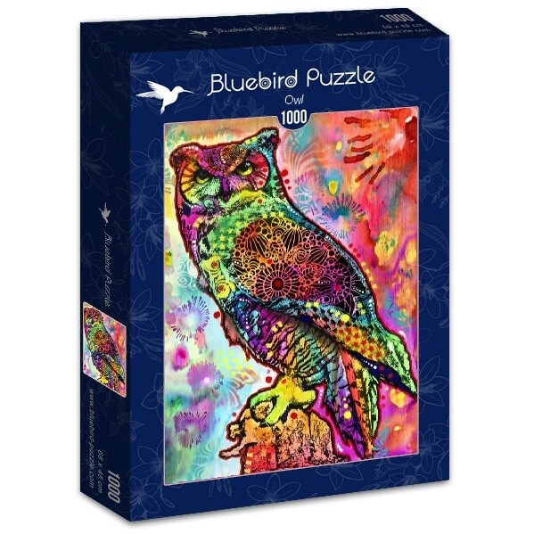 PUZZLE 1000 pcs - Coruja - BLUEBIRD