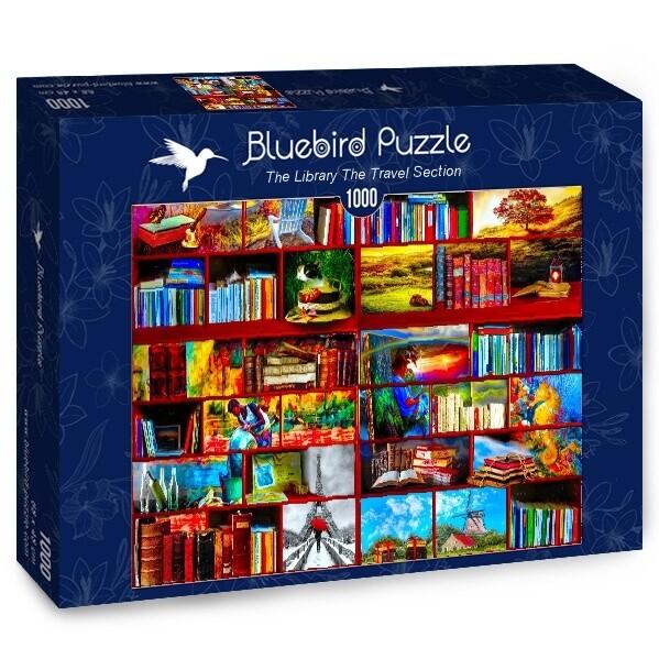 PUZZLE 1000 pcs - Livraria - Secção Viagem - BLUEBIRD