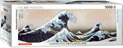 PUZZLE 1000 pcs Panoramic- Great Wave of Kanawaga - Eurographics