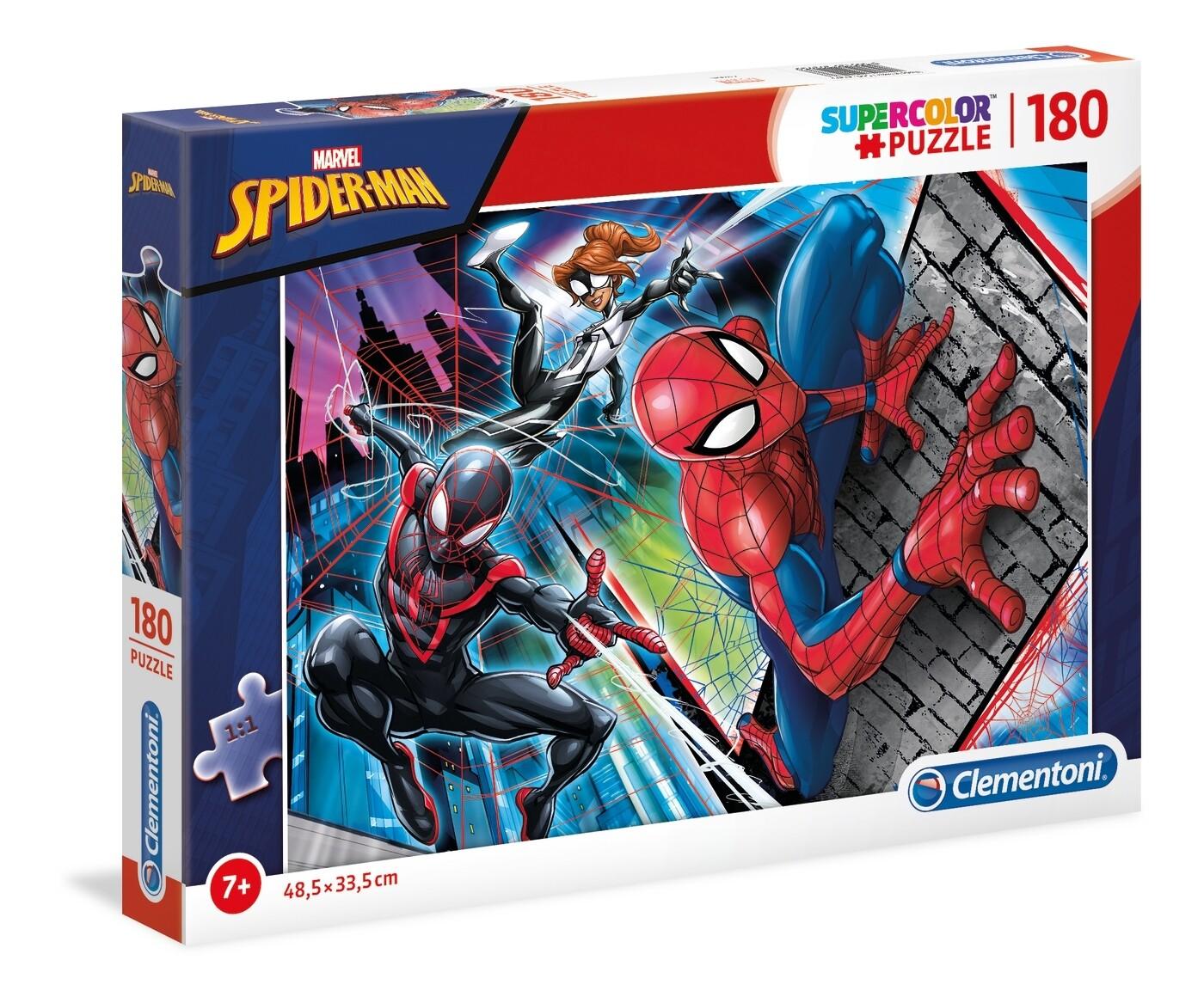 PUZZLE Super 180 pcs Spiderman - CLEMENTONI