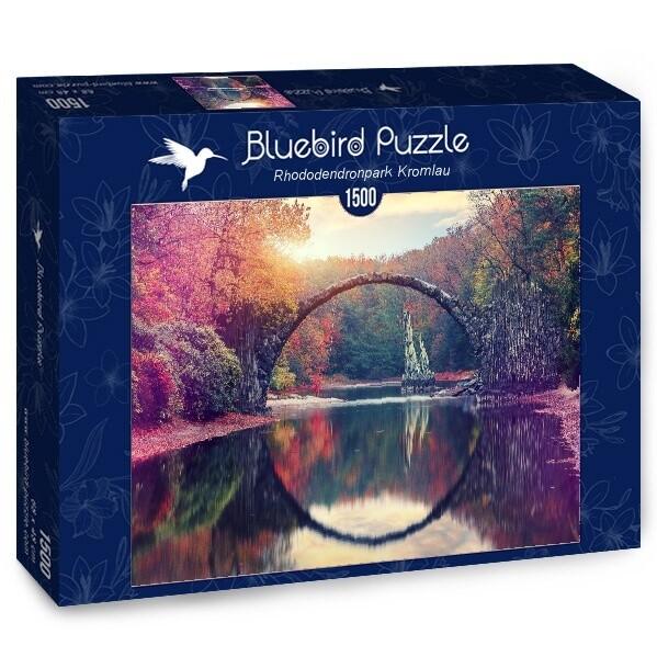 PUZZLE 1500 pcs - Rhododendropark Kromlau - BLUEBIRD