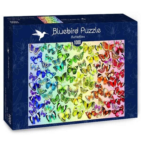 PUZZLE 1000 pcs - Borboletas - BLUEBIRD