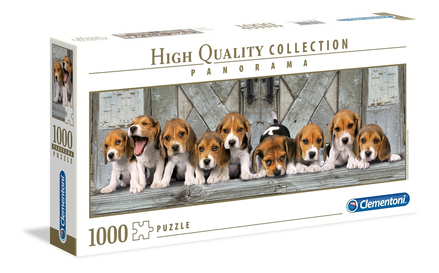 PUZZLE 1000 HQ Panorama - Beagles - CLEMENTONI