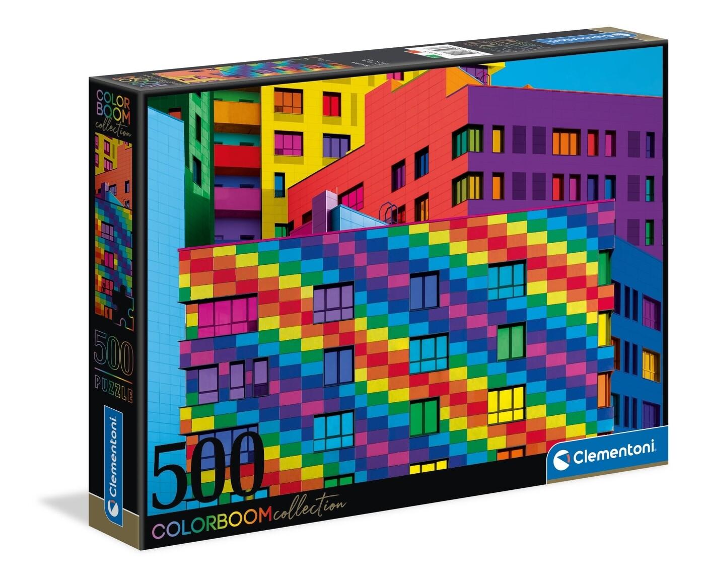 PUZZLE 500 HQ Colorboom Squares - CLEMENTONI
