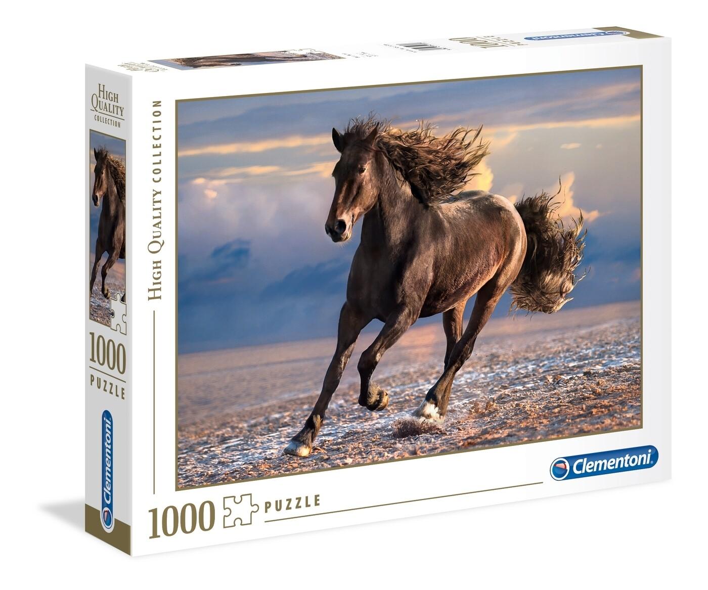 PUZZLE 1000 HQ Free Horse - CLEMENTONI