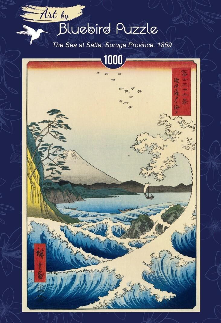 PUZZLE 1000 pcs - Utagawa - The Sea at Satta, 1859 - BLUEBIRD