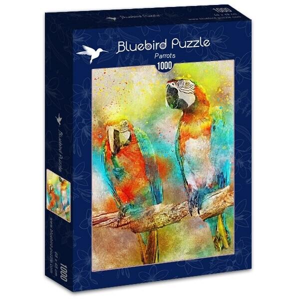 PUZZLE 1000 pcs - Papagaios - BLUEBIRD