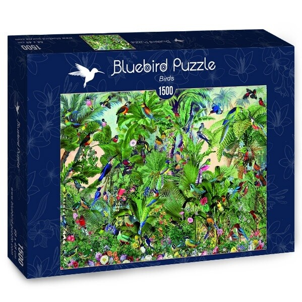 PUZZLE 1500 pcs - Birds - BLUEBIRD