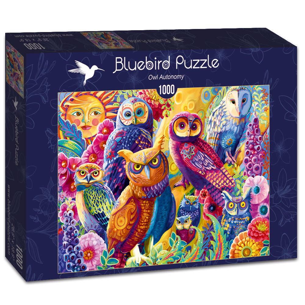 PUZZLE 1000 pcs - Owl Autonomy - BLUEBIRD