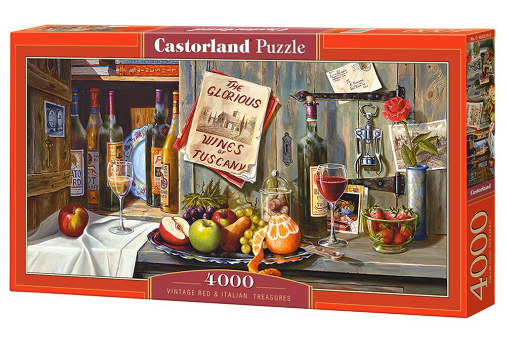 PUZZLE 4000 pcs - Vintage Red & Italian Treasures  - CASTORLAND