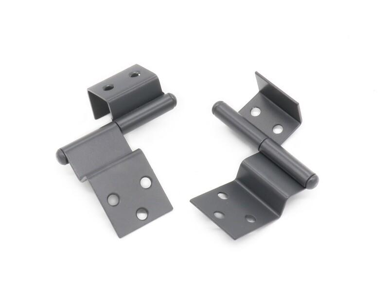 Scharnier für halbaufgesetzte Türen / gepolsterte Türumleimer