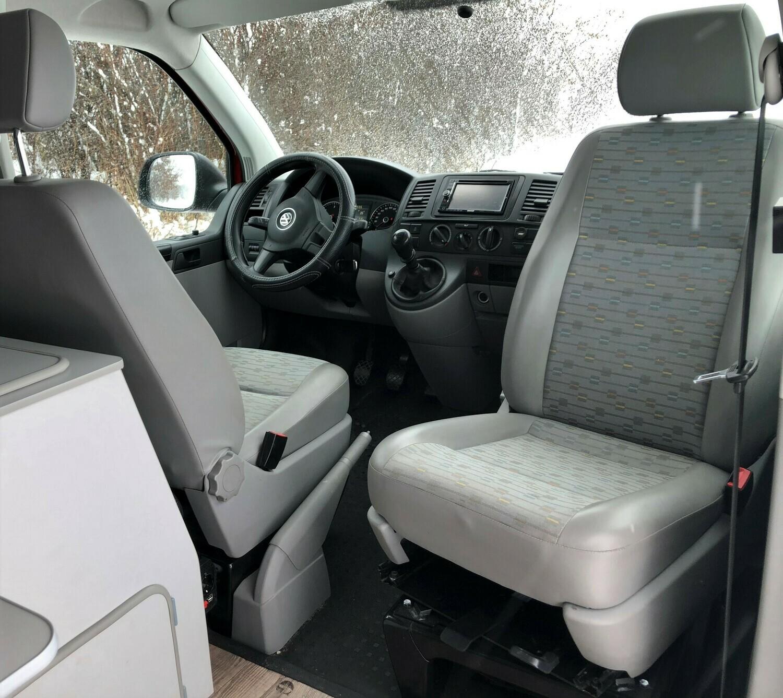 Drehkonsole VW T5/T6 mit ABE (Einzelsitze)