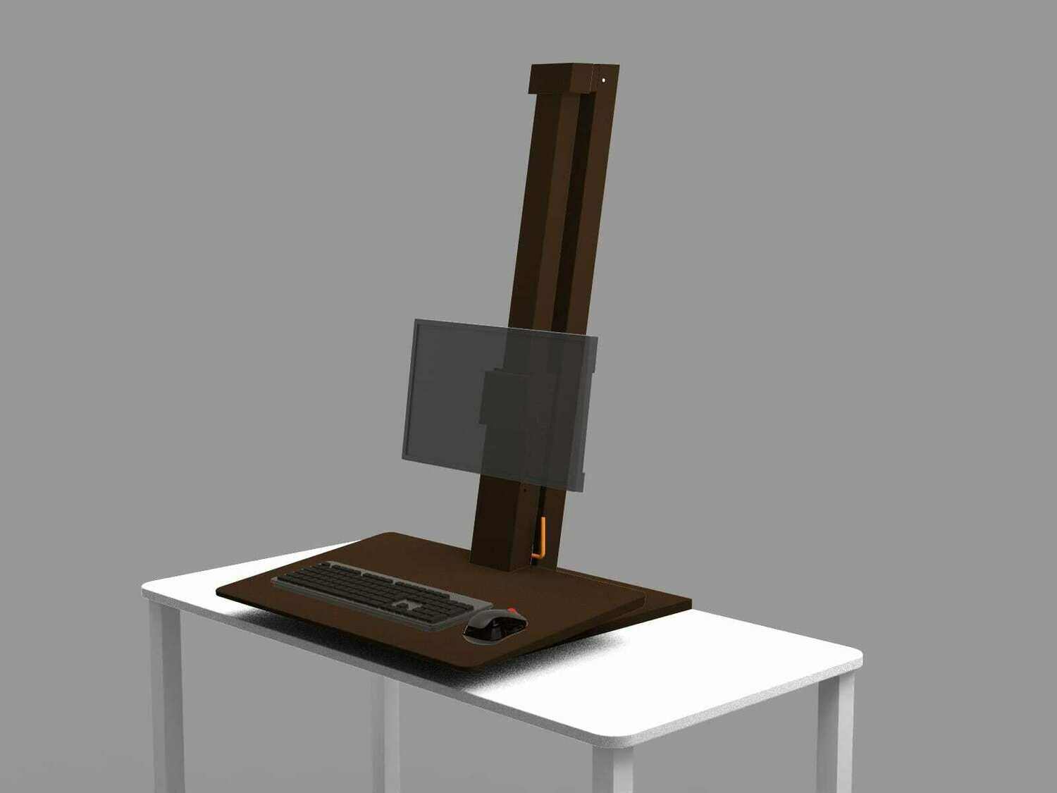Opus Indigo EeTeeGo Table Mounted Sit/Stand fixture for Laptop & Desktop.