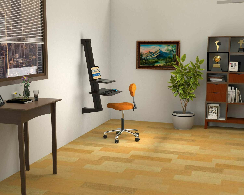 Opus Indigo EeTeeGo Wall Mounted Sit/Stand fixture for Laptop & Desktop.