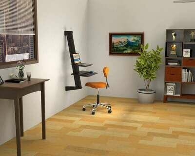 Opus Indigo EeTeeGo Wall Mounted Sit/Stand fixture for Laptop & Desktop.