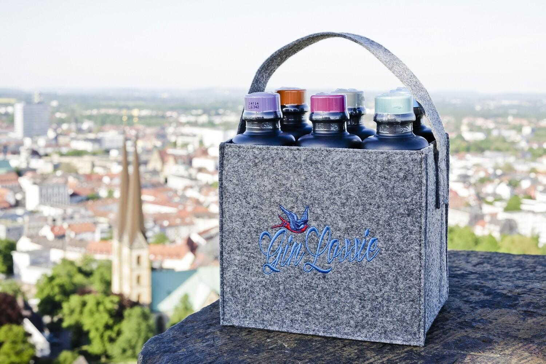 Gin Lossie Handtasche  mit 6x 0,2l Dry Gin & Gin-Likör