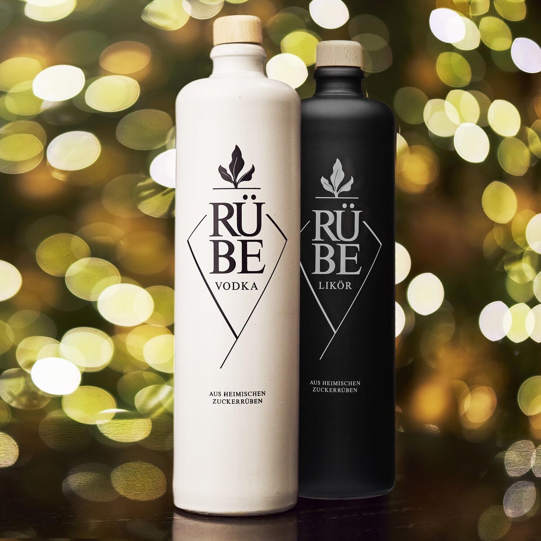 RÜBE Vodka & RÜBE Likör  mit Gläser-Set