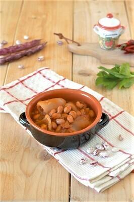 Coccetto di fagioli e cotica con pane bruscato