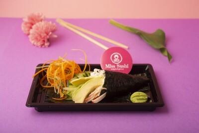 Temaki surimi, avocado e cetriolo