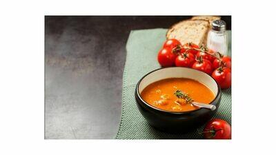 Tomatenroomsoep met vleesparels