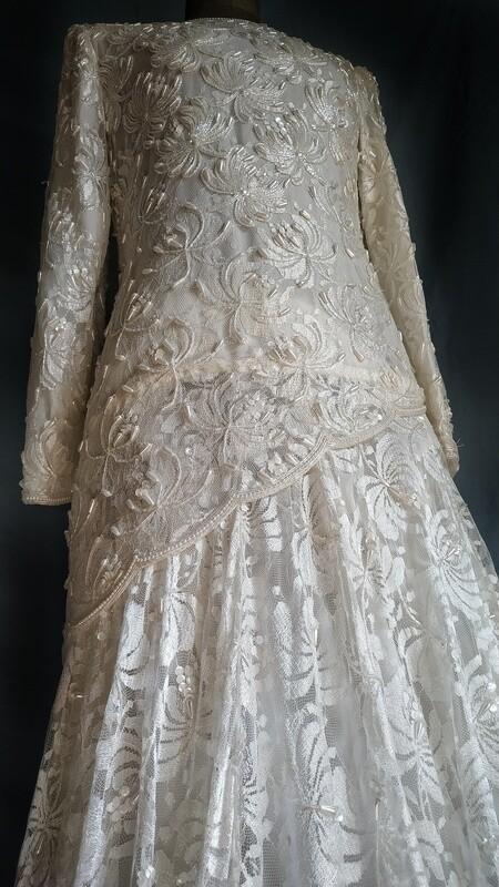Vestido de novia Años 80 / Vintage Wedding Dress