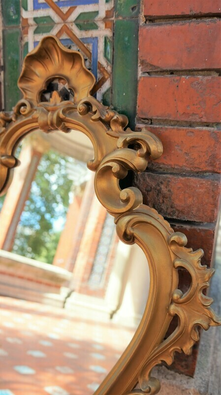 Antiguo espejo cornucopia