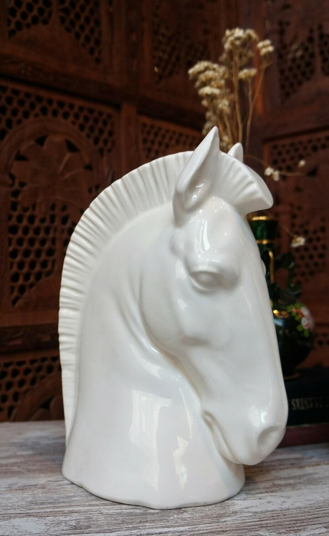 Pareja Caballos Porcelana CH Hispania Manises