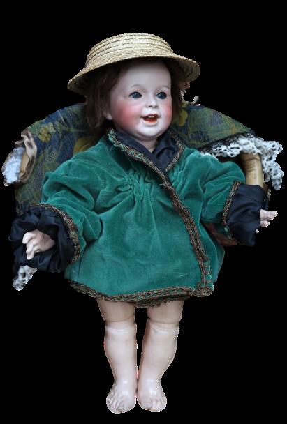 Antiguo Muñeco francés SFBJ 236 Paris/ Antique French Doll Character