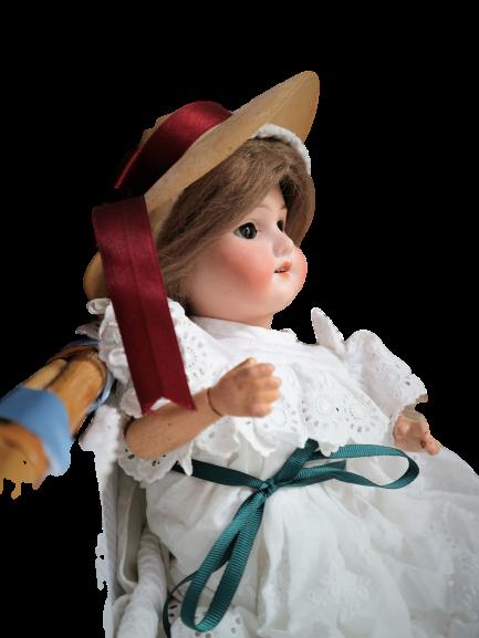 Muñeca antigua de porcelana DEP & A.M