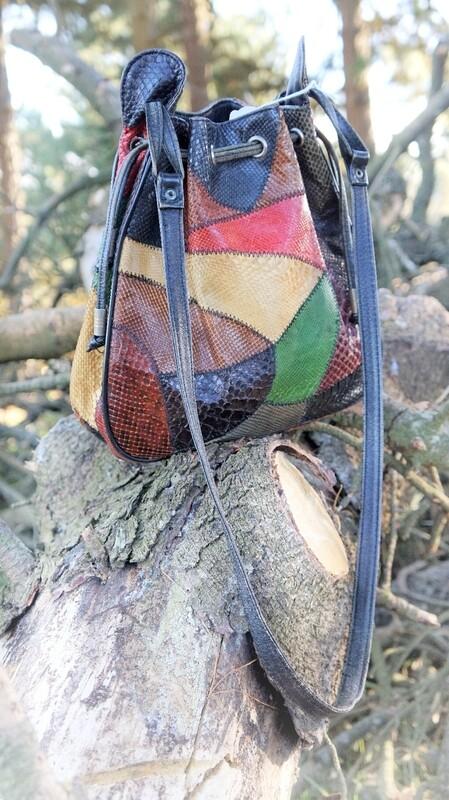 Bolso - saco multicolor de piel